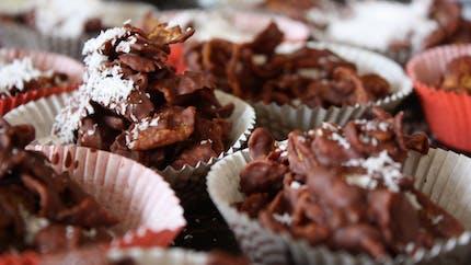 Rose des sables au chocolat version Frosties