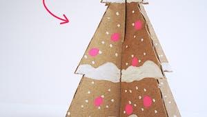 Gabarit de sapins de Noël en papier