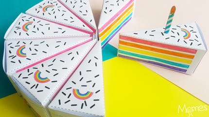 Gâteau à imprimer et à colorier