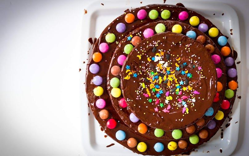 Le Gâteau chocolat - Smarties