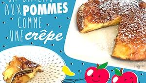 Gâteau aux pommes comme une crêpe !