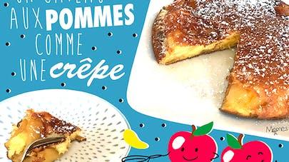 gâteau pommes crêpe cuite à la poêle chandeleur mardi       gras carnaval