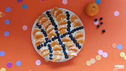 Gâteau ballon de basket aux fruits