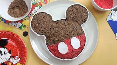 Gâteau d'anniversaire Mickey (sans œuf et produits       laitier) anniversaire mômes