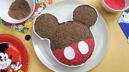 Gâteau d'anniversaire Mickey (sans œuf et sans produit laitier)