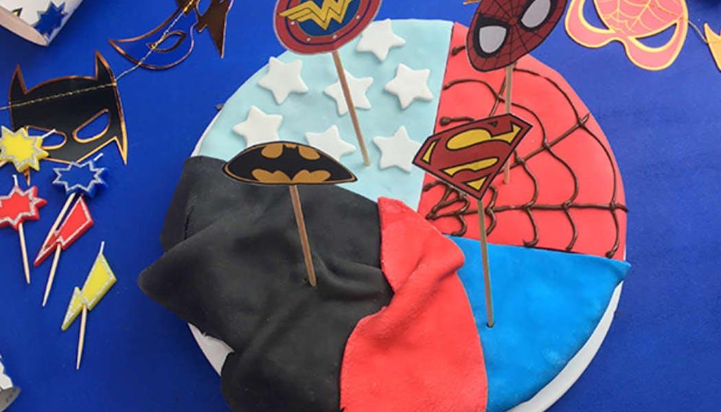 Gâteau de super héros (sans gluten)