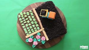 Gâteau d'anniversaire à la ferme