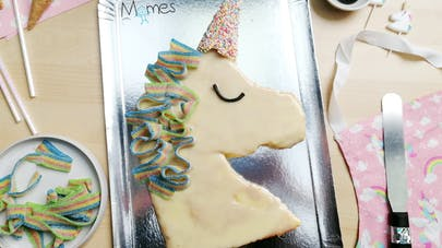 gâteau décoration licorne