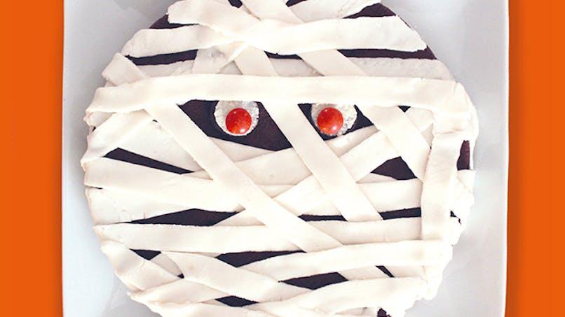 recette gâteau momie chocolat mascarpone halloween