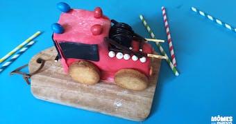 Gâteau d'anniversaire pompier