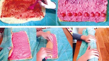 Le gâteau roulé aux fraises Tagada