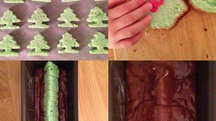 Le gâteau surprise Sapin de Noël, à la pistache et au chocolat