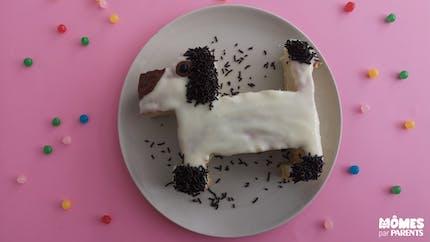 Gâteau d'anniversaire sur le thème des chiens