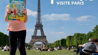 Gregory Ferembach reproduit album dessiné Caroline       visite Paris avec sa fille Capucine 4 ans
