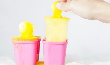 Glace à l'eau au citron