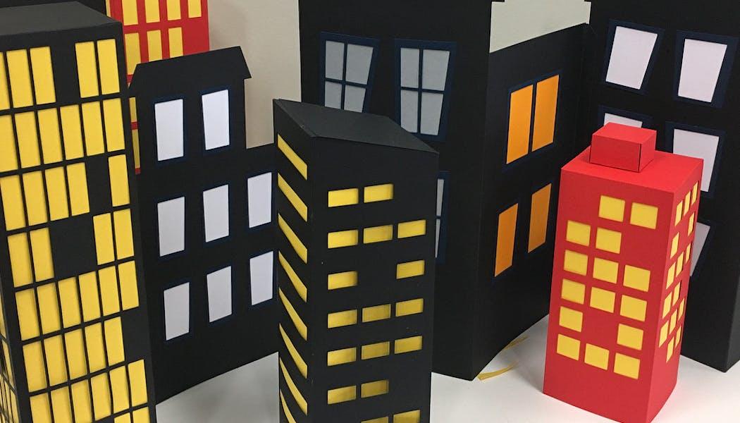Gotham City, la ville de Batman en carton