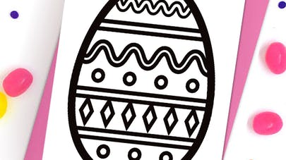 Gros oeuf de Pâques à colorier