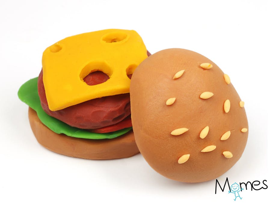 Hamburger en pâte à modeler