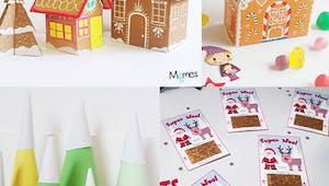 Idées déco de dernière minute pour la table de Noël, à faire avec les enfants !