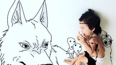 yota papa dessine ses enfants personnages pop       culture