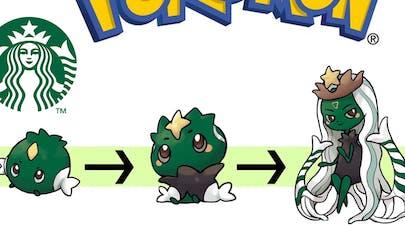 les marques version Pokémon par Shin