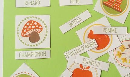 Imagier de l'automne à imprimer