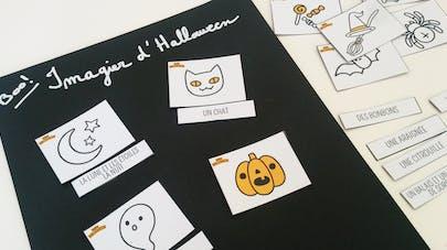 imagier memory halloween