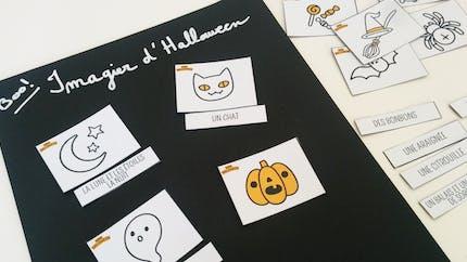 Imagier et memory d'Halloween