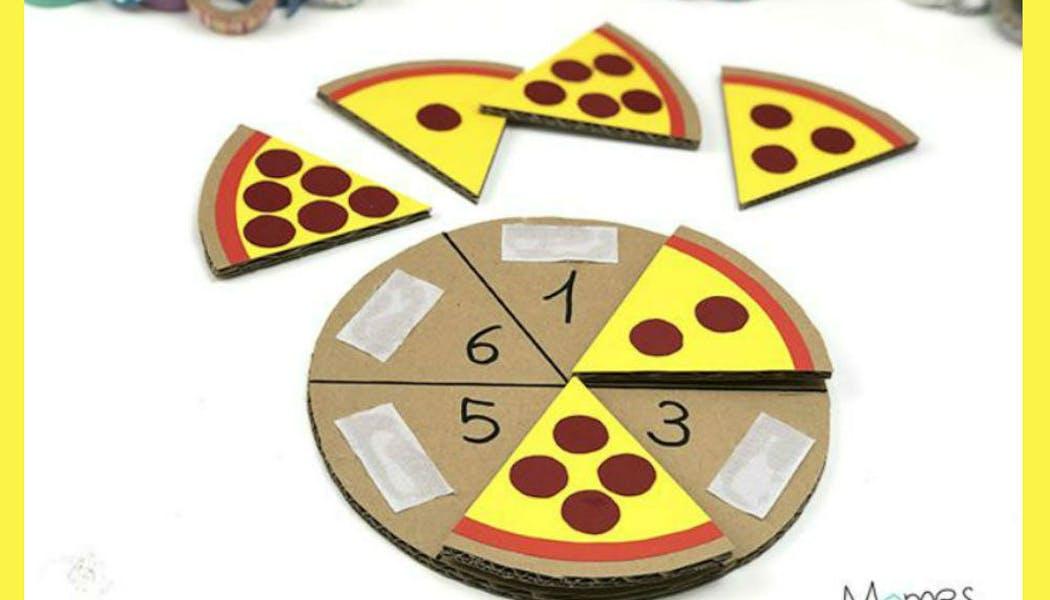Inspiration Montessori : la pizza pour apprendre à       compter
