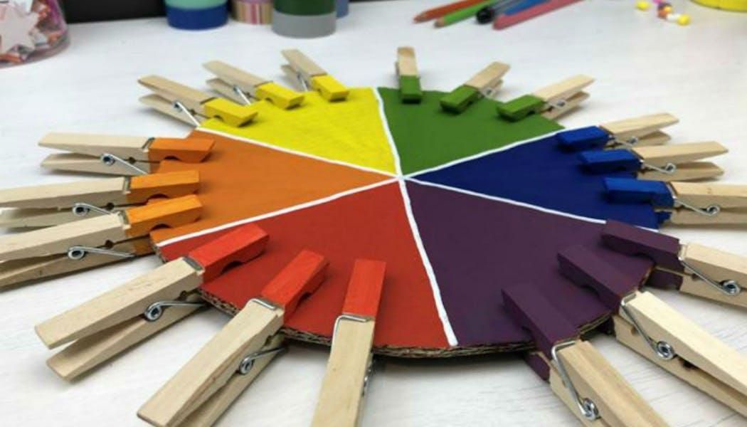 Inspiration Montessori : le jeu des pinces à       linge