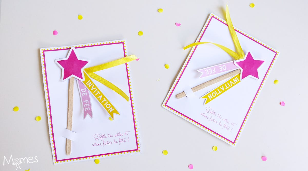 Invitation Anniversaire Fee Baguette Magique Momes Net