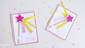 Invitation anniversaire fée : baguette magique