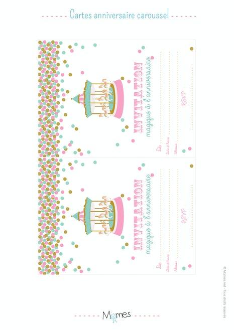 Invitation Anniversaire Fete Foraine A Imprimer Momes Net