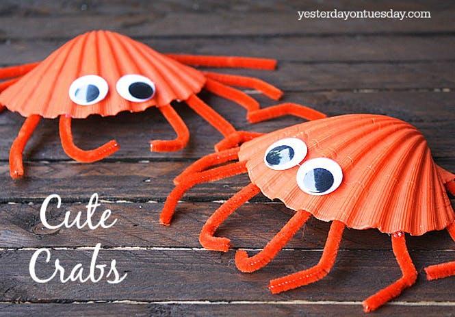 coquillages crabes