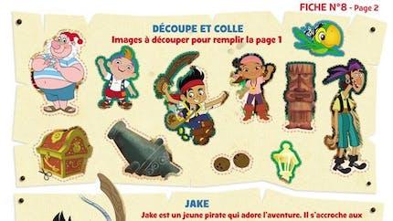 Jake et les pirates : découpe et colle