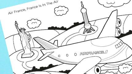 Je colorie mon avion Air France !