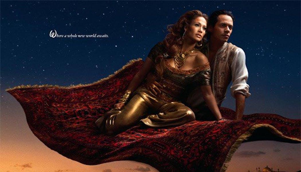 Jennifer Lopez et Marc Anthony (Jasmine et       Aladin)