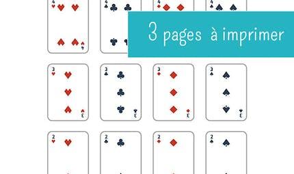 Jeu de 54 cartes à imprimer
