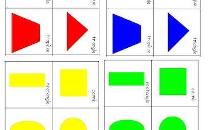 jeu de 7 familles géométrie à imprimer