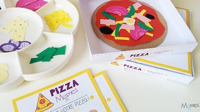 jeu pizza à imprimer