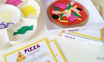 Jeu de mini-pizza à imprimer