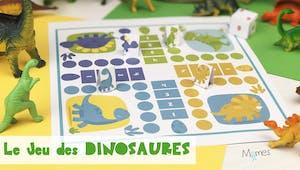 Jeu de petits chevaux à imprimer version Dinosaures !