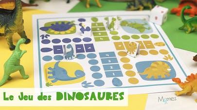Jeu dinosaures à imprimer