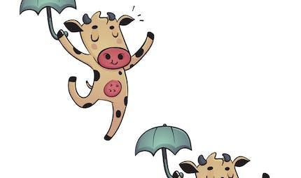Jeu des 5 erreurs : la vache