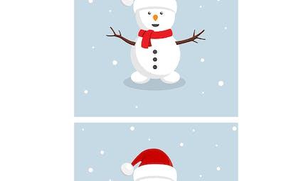 Jeu des 7 différences : Le bonhomme de neige