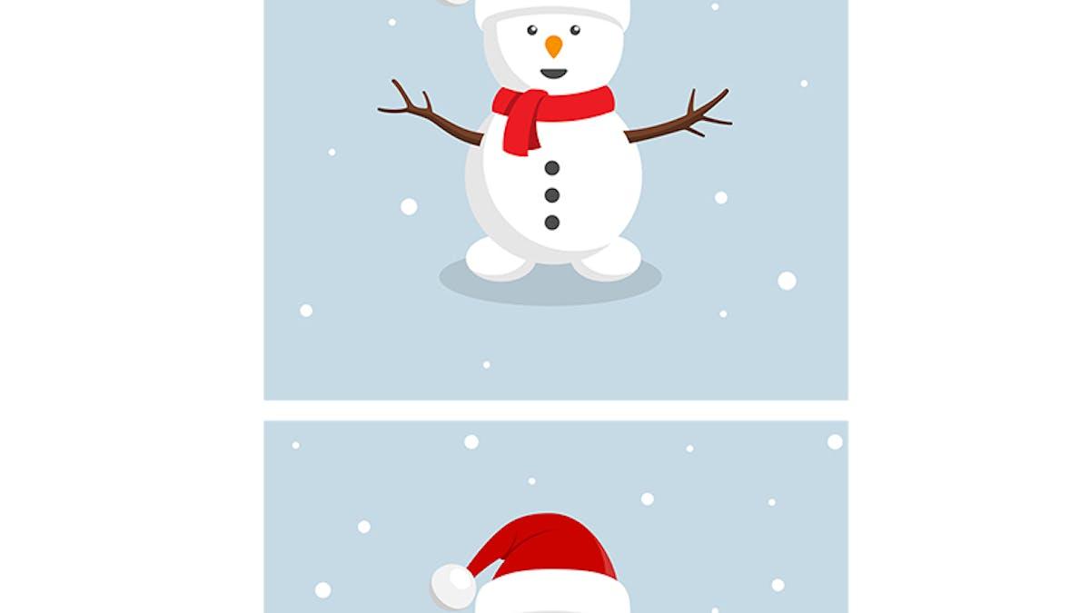 """Jeu des 7 différences : Le bonhomme de neige """"Père       Noël"""""""