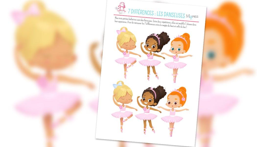 Jeu des 7 différences : les petites danseuses