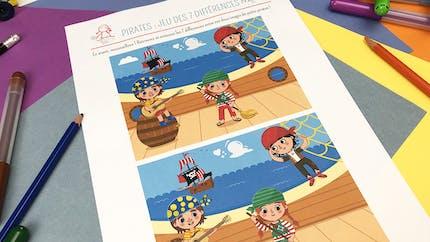 Jeu des 7 erreurs : les Pirates