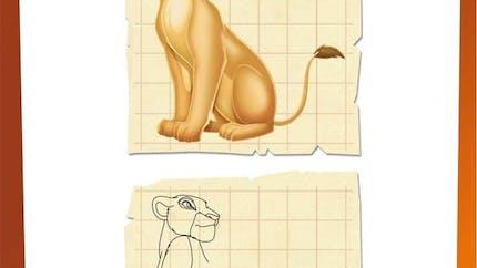 Jeu Le Roi Lion: dessine Nala