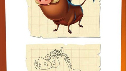 Jeu Le Roi Lion: dessiner Pumba